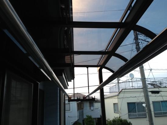 ベランダテラス取り付け工事 (6)