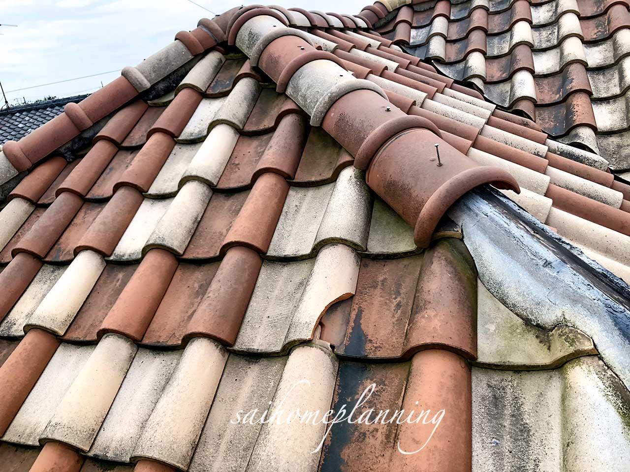 台風での屋根修理before01